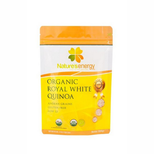 NATURE'S ENERGY ORGANIC ROYAL WHITE QUINOA 500 GRAM