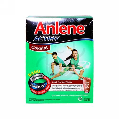 ANLENE ACTIFIT RASA COKLAT 600 GRAM BOX