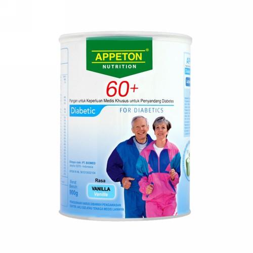 APPETON 60+ FOR DIABETIC RASA VANILA 900 GRAM SUSU