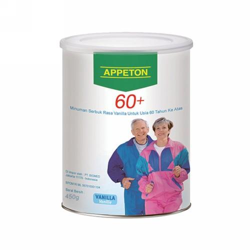 APPETON 60+ RASA VANILA 450 GRAM SUSU