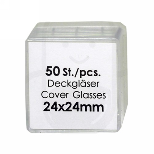 ASSISTANT COVER GLASS 24 X 24 MM BOX
