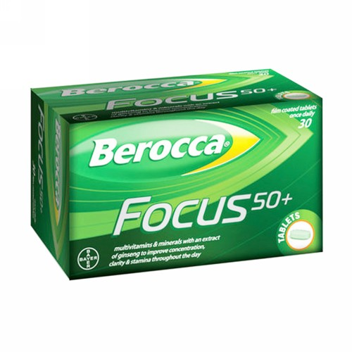 BEROCCA FILM COATED GINSENG TABLET STRIP