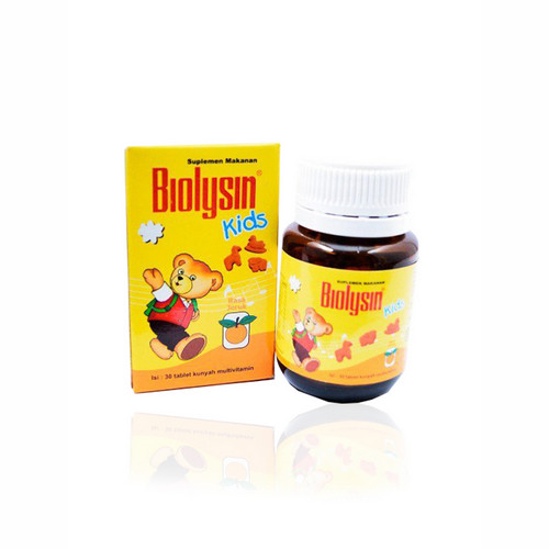 BIOLYSIN KIDS JERUK BOTOL 30 TABLET