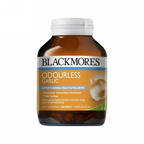 BLACKMORES ODOULESS GARLIC BOTOL 200 TABLET