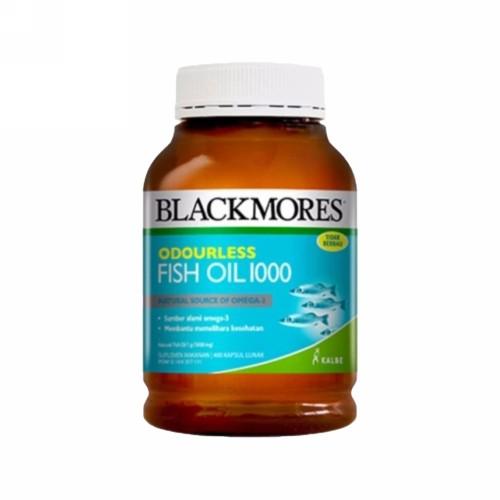 BLACKMORES ODOURLESS FISH OIL 1000 BOTOL 200 KAPSUL