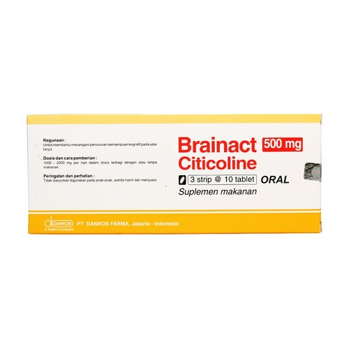 BRAINACT O DIS 500 MG TABLET STRIP