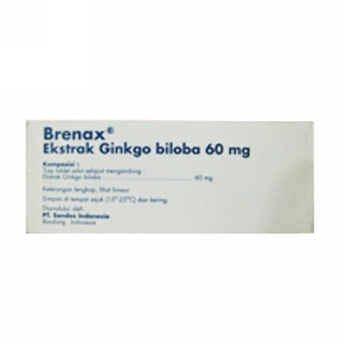 BRENAX 60 MG TABLET BOX