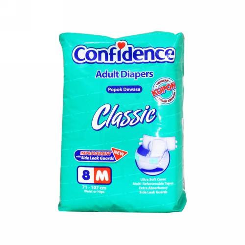 CONFIDENCE ADULT DIAPERS CLASSIC UKURAN M 8