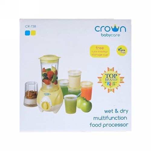 CROWN WET AND DRY MULTIFUNCTION FOOD PROCESSOR CR738 YELLOW