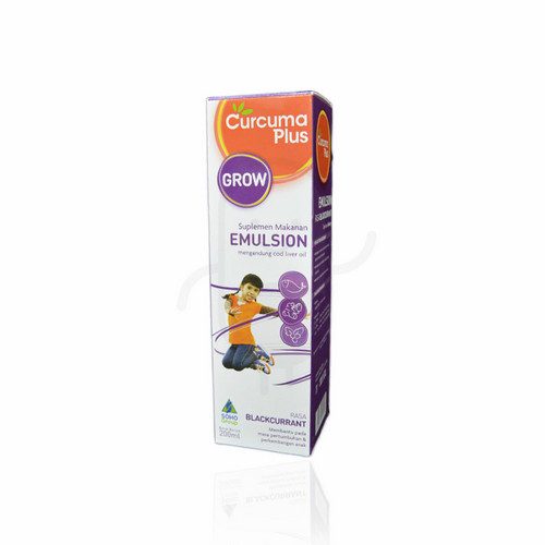 CURCUMA PLUS EMULSION GROW RASA BLACKCURRANT SIRUP 200 ML
