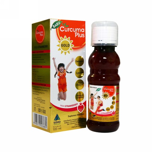 CURCUMA PLUS GOLD RASA STRAWBERRY 100 ML