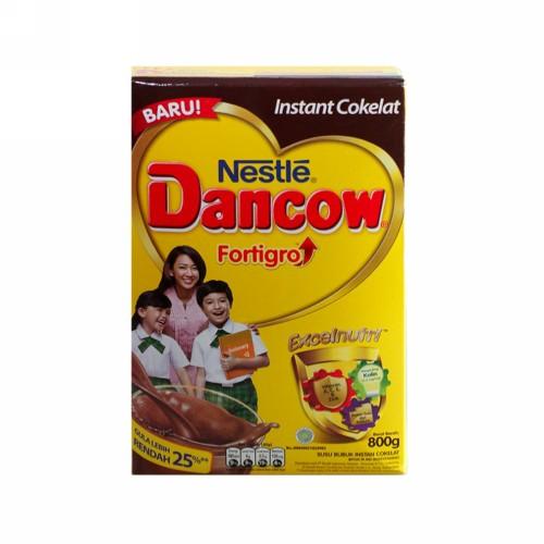 DANCOW FORTIGRO INSTANT RASA COKLAT 800 GRAM BOX