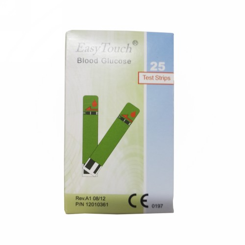 EASY TOUCH BLOOD GLUCOSE TEST STRIPS BOX 25 PCS