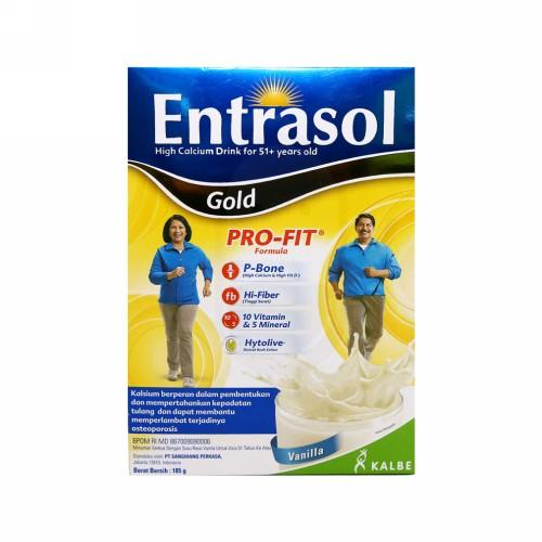 ENTRASOL GOLD RASA VANILA BOX 185 GRAM