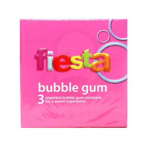 FIESTA KONDOM FIESTA BUBLE GUM BOX 3 PCS