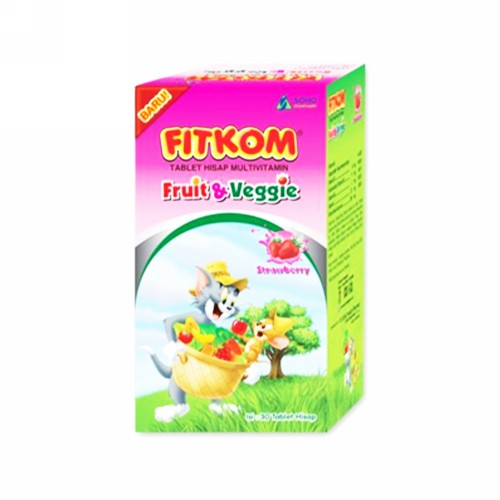 FITKOM FRUIT & VEGGIE RASA TUTTIE FRUTTI BOX 30 TABLET HISAP