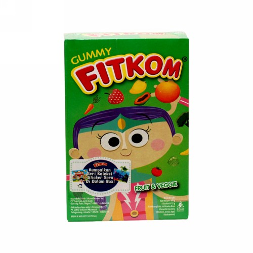 FITKOM GUMMY FRUIT & VEGGIE 5 PCS