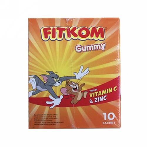 FITKOM GUMMY VITAMIN C DAN ZINC SACHET BOX