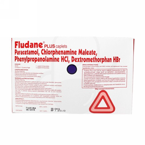 FLUDANE PLUS STRIP 4 KAPLET