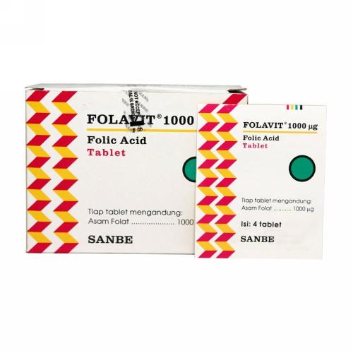 FOLAVIT 1000 MG BOX 250 TABLET