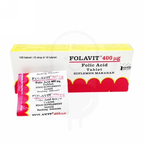 FOLAVIT 400 MCG BOX 100 TABLET
