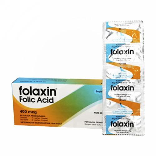 FOLAXIN 400 MCG STRIP 10 KAPLET