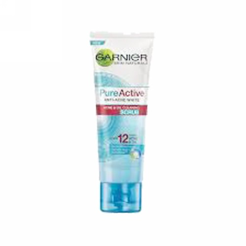 GARNIER PURE ACTIVE ANTI-ACNE WHITE ACNE & OIL CLEARING SCRUB 100 ML TUBE