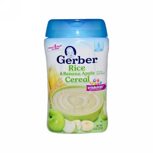 GERBER CEREAL BERAS PISANG & APEL 227 GRAM BOX