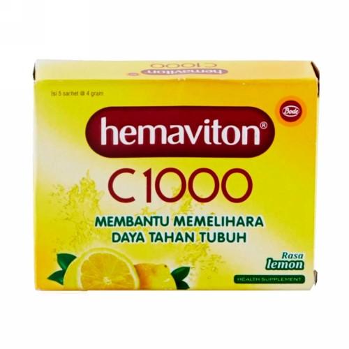 HEMAVITON C 1000 4 GRAM RASA LEMON SACHET