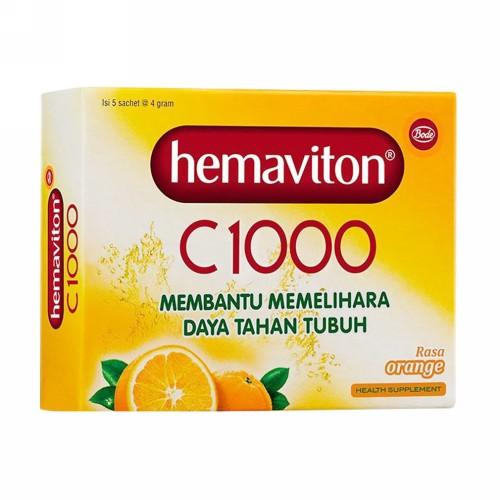 HEMAVITON C 1000 4 GRAM RASA ORANGE BOX 5 SACHET