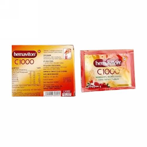 HEMAVITON C 1000 4 GRAM RASA POMEGRANATE BOX 5 SACHET