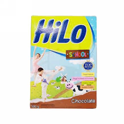 HILO SCHOOL SUSU BUBUK RASA COKLAT 500 GRAM BOX
