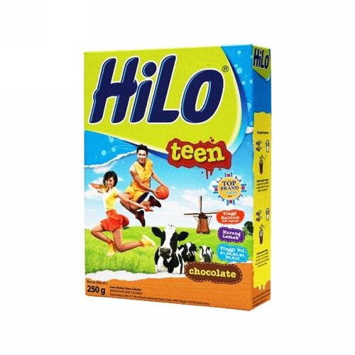 HILO TEEN SUSU BUBUK RASA COKELAT 250 GRAM BOX
