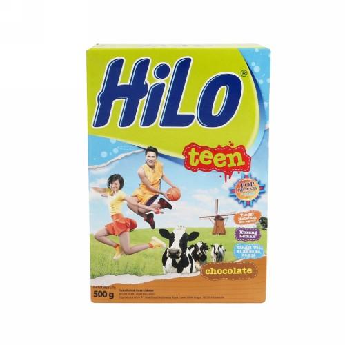 HILO TEEN SUSU BUBUK RASA COKELAT 500 GRAM BOX