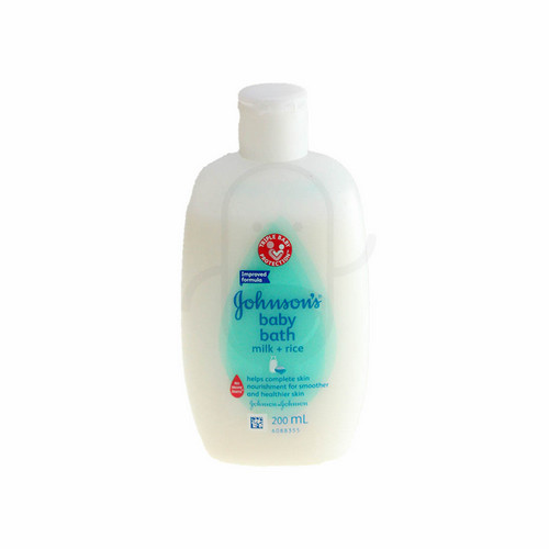 JOHNSON'S BABY BATH MILK + RICE 200 ML BOTOL