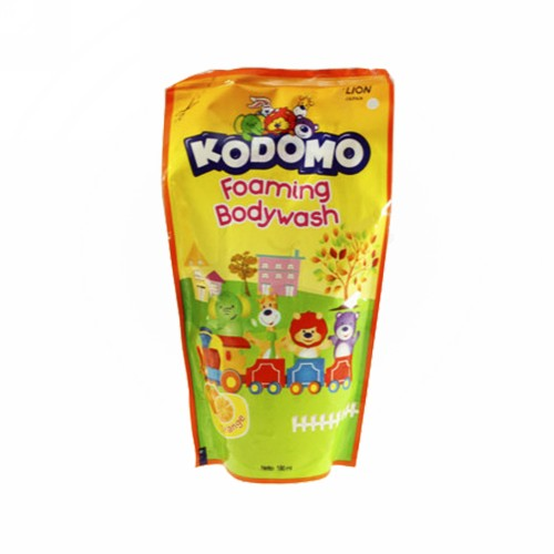 KODOMO FOAMING BODY WASH ORANGE 180 ML BOTOL