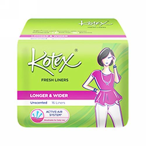 KOTEX FRESH LINERS LONGER & WIDER ISI 16 PCS