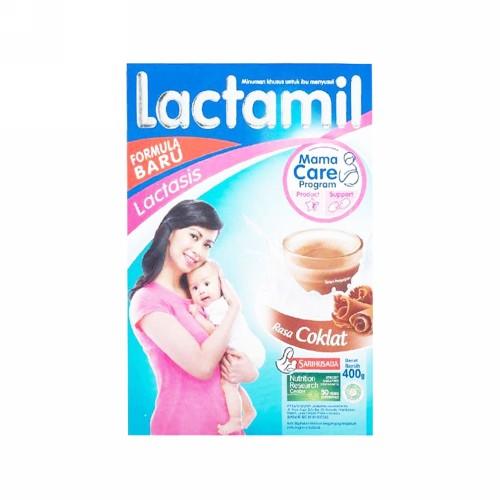 LACTAMIL LACTASIS SUSU IBU MENYUSUI RASA COKLAT 200 GRAM BOX