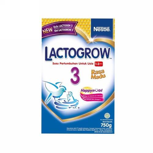 LACTOGROW 3 USIA 1-3 TAHUN RASA MADU 750 GRAM BOX
