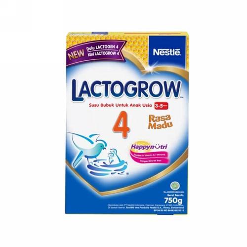 LACTOGROW 4 USIA 3-5 TAHUN RASA MADU 750 GRAM BOX
