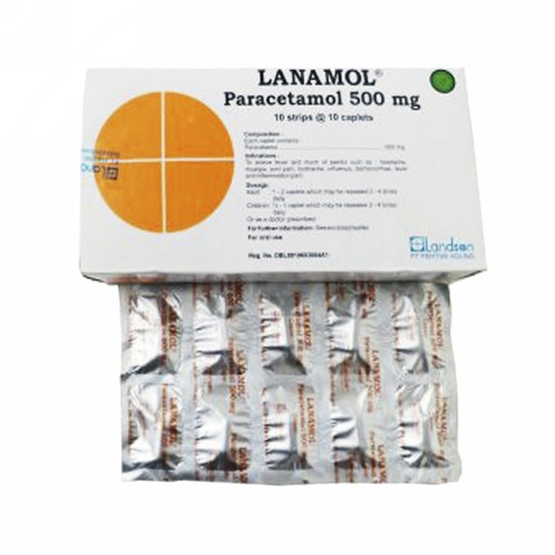 LANAMOL 500 MG STRIP 10 KAPLET