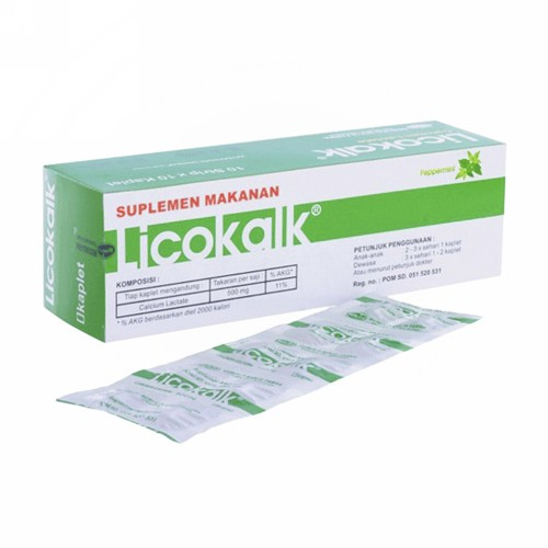 LICOKALK PLUS STRIP 10 KAPLET