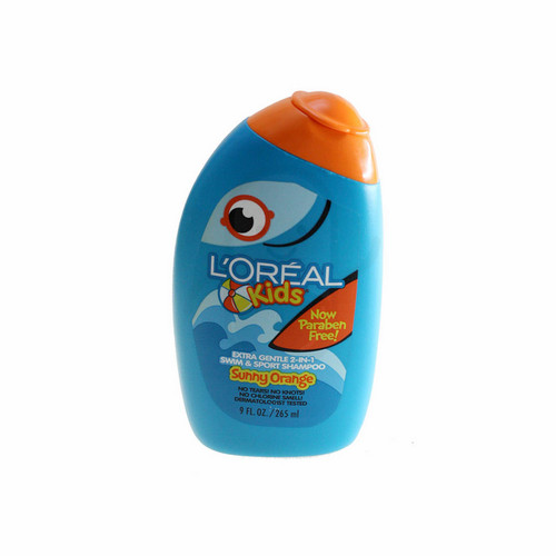L'OREAL SHAMPOO KIDS EXTRA GENTLE 2 IN 1 SWIM AND SPORT SOOTHING SUNY ORANGE 250 ML BOTOL