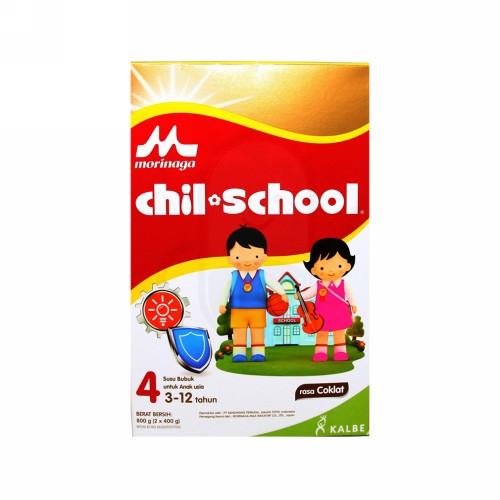 MORINAGA CHIL SCHOOL 4 SUSU FORMULA LANJUTAN USIA3-12 TAHUN RASA COKLAT 800 GRAM DUS