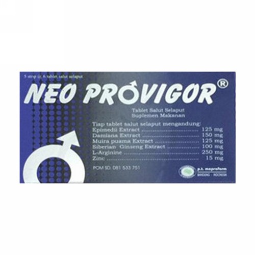NEO PROVIGOR STRIP 6 TABLET