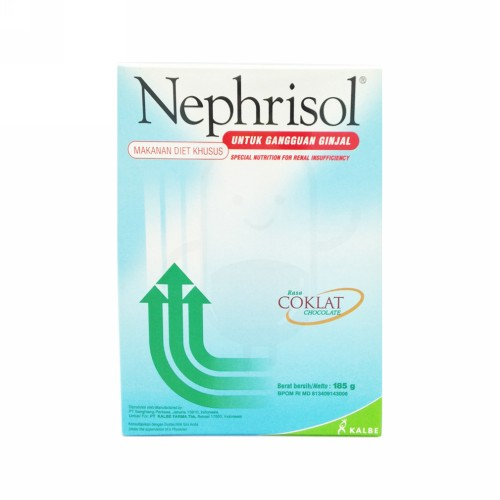 NEPHRISOL SUSU BUBUK RASA COKLAT 185 GRAM