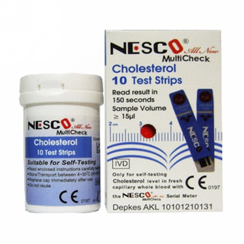 NESCO CHOLESTROL TEST STRIPS BOX 10 PCS