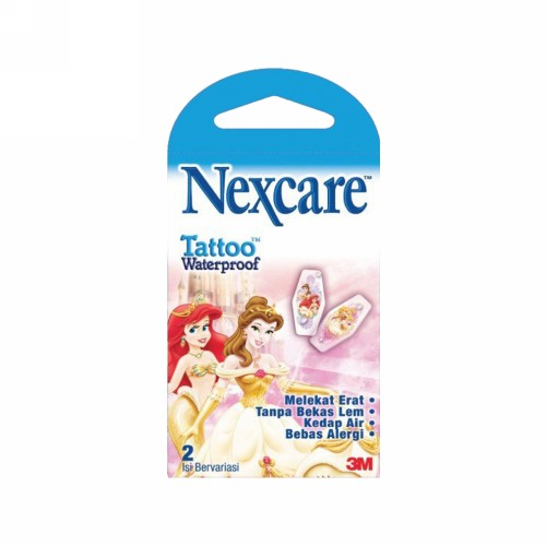 NEXCARE TATTOO WATERPROOF PRINCES BOX 2 PCS