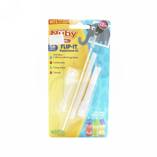 NUBY FLIP IT REPLACEMENT THICK STRAW KIT