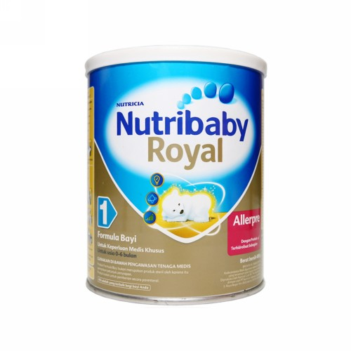NUTRIBABY ROYAL ALLERPRE 1 SUSU FORMULA BAYI 400 GRAM KALENG